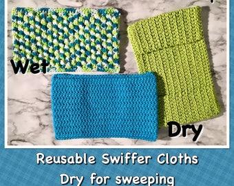 Set of 3 Reusable Swiffer Cloths