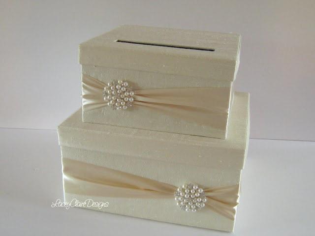Wedding Gift Box Holder: Wedding Card Box Money Holder Gift Card Envelope Box Custom