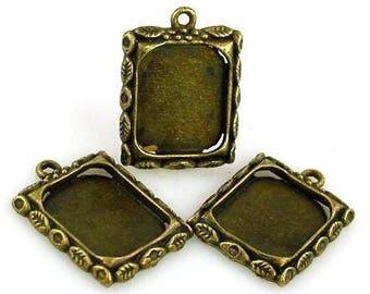 3  antique gold charm photo charm bead 7202-BOX 4