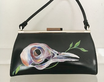 Hand Painted Pigeon Purse