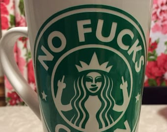 No fucks given coffee mug