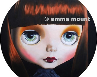 Blythe Doll art print 7/100 - Signorina the Vague - goth emo