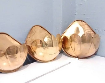 Vintage, Brass, Wall Sconces, Wall Pockets, Wall Planters, Note Holder, Wall Hanging, Wall Decor, Home Decor, MidCentury, RhymeswithDaughter