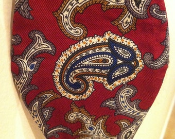 Paisley Bow Tie Vintage Mens