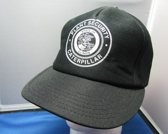 State of Illinois Caterpillar Plant Security Baseball or Truckers Cap with Adjustable Snap Back, and Made in America by Challenger Caps