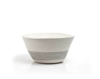 Rope Coil Bowl with Grey accents