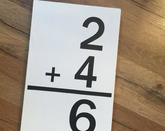 Number family sign for gallery wall farmhouse customized number sign