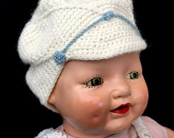 Darling Vintage Hand Knit Baby Boy Cap