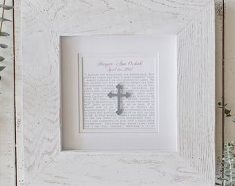 Custom 1st Communion Gift | Personalized 1st Communion Gifts | Framed 1st Communion Gift | Unique First Communion Gifts | Gift Godparent