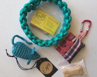 Ring Tug Toy - Handmade Rope Puppy Toy Dog Toy