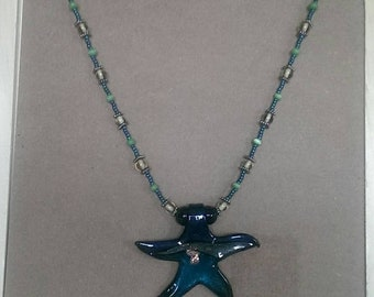 SALE Midnight Blue Star of the Sea Necklace
