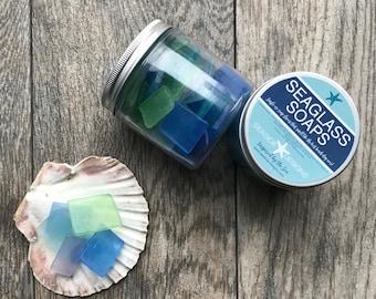 Sea Glass Soaps, Single Use Glycerine Soaps, Beach Glass Soaps, Beach Party, Wedding Favors, Beach House, Sea Glass, Beach Glass, Nautical