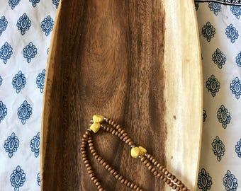 Vintage Beekham wood tray