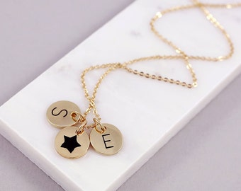 Symbolic Necklace | Two Letter Necklace | Friendship Necklace | Best Friend Gift | Boho jewellery Ideas | Birthday Gift | Sister Gift |G