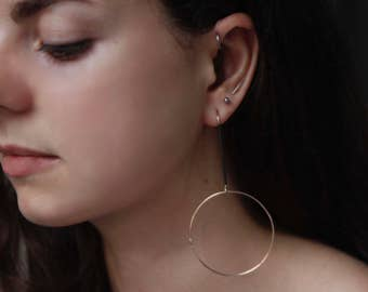 GOLD HOOPS Earrings by jac and hugo in 9ct gold