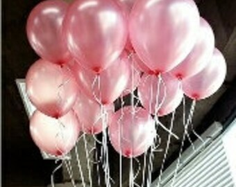 Pink Balloons, Pearl Pink Balloons, Pretty Pink Balloons, First Birthday Balloons, Baby Shower Balloons, Balloon Decorations Pkt 12