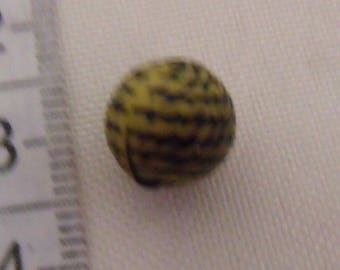 round bead, yellow pearl, striped bead, black, pearl 10mm, lot of 10 beads