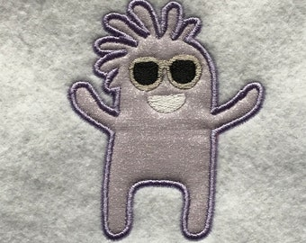 Purple Monster Applique DOWNLOAD DIGITAL Design 4x4 5x7