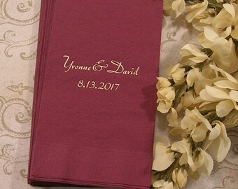Personalized guest towels wedding guest towels reception guest towels Set of 50 guest towels