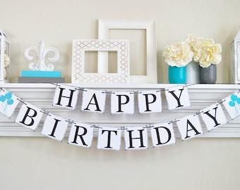 Happy Birthday Banner, Kids Birthday Balloons, Traditional Birthday Decorations, Birthday Banner