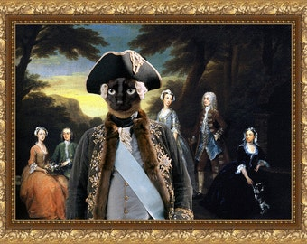 Siamese Cat Fine Art Canvas Print - The Jones Family