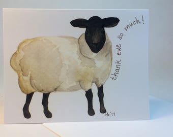 Thank ewe notecards, set of 6