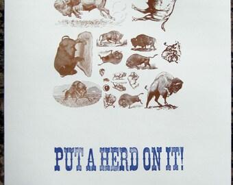 Put a Herd on it Letterpress poster - Buffalo NY