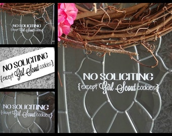 No Soliciting Vinyl Door Decal