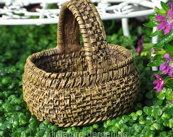 Gathering Basket for Miniature Garden, Fairy Garden