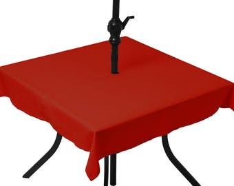 Yellow tablecloth chat (umbrella)