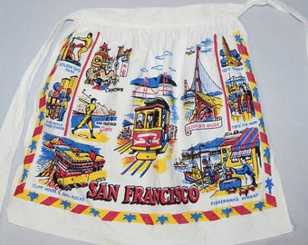 Vintage 60s San Francisco Souvenir Apron