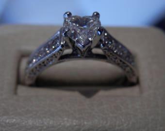 OOAK Heart Diamond Ring (FREE Custom Sizing Available!)
