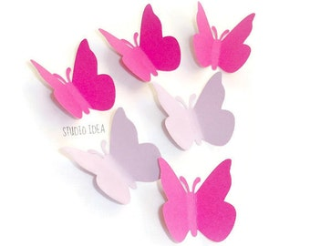 50 Large Hot Pink & Lilac (light purple) Butterfly Cut outs-Set of 50 pcs