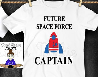 Future Space Force Captain, USSF, Space Force Kids Shirt, Space Force Baby, 4th of July, Donald Trump Kid Shirt, Space Force Captain Shirt