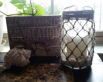 Nautical Net Mason Jars