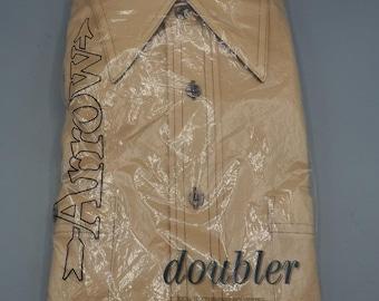 Vintage Arrow Doubler Polyester Button Long Sleeve Shirt 15-1/2 Rockabilly NOS