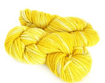 Midnight Weave Co Hand Dyed Yarn - Aran weight fine merino wool - One Mini Skein (at least 25g each) - SUNSHINE