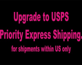 Upgrade your shipment to USPS Priority Express Shiping - within US only