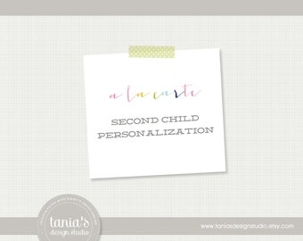 A La Carte : Second Child Personalization by tania's design studio