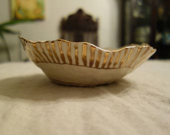 Salad Bowl with Gold Stripe, Large