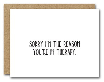 Funny Love Card, INSTANT DOWNLOAD, Therapy Card, Funny Therapy Card, Boyfriend Card, Girlfriend Card, Husband Card, Friend Card, Best Friend