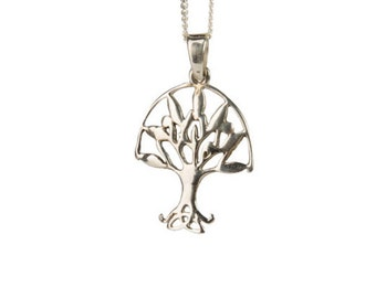 Sterling Silver Tree of Life Pendant Necklace Spiritual Jewellery Yogi Jewellery Handmade Free UK delivery