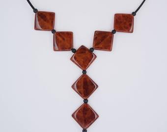 Rare Exotic Eucalyptus Wood Necklace