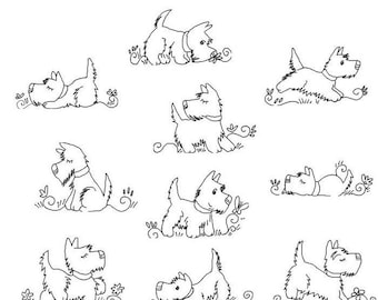 Scottie Dogs Outlines