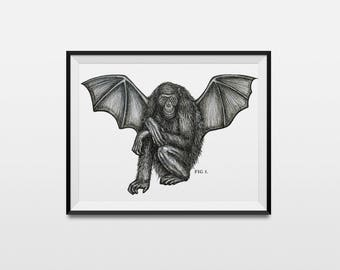 Cryptid A5 Print