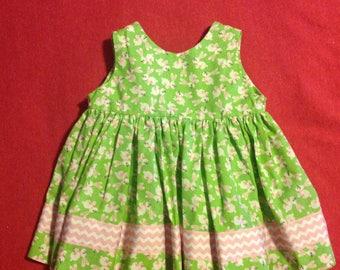 Baby Girl Easter Bunny Dress, bunny dress, Easter dress, little girl Easter dress