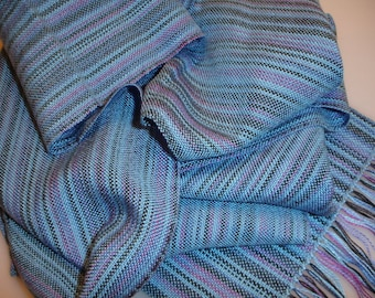 SALE, Hand woven scarf, handwoven scarf, women's scarf, tencel scarf, ladies scarves,  woven scarf, handwoven scarf, summer scarf, scarves