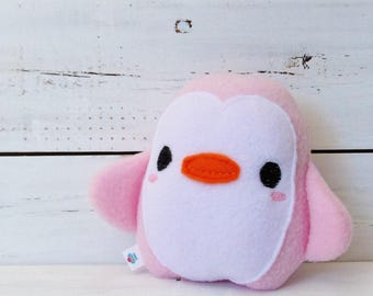 Penguin Stuffed Animal/Penguin Plush Toy/Baby Safe Toy/Comfort Toy/Rattle Plushie/Kawaii/Soft Stuffed Penguin Animal/Tween gift/BFF gift