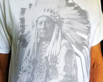 Chief Owns Different Horses T shirt print