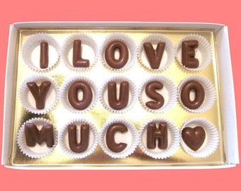 I Love You So Much Romantic Gift Idea for Girlfriend Gift Fiance And Fiancee Gift Wife Birthday Gift Funny Cute Present Large Milk Chocolate
